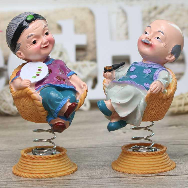 。 Golden wedding anniversary gift silver wedding souvenir for parents and the elderly