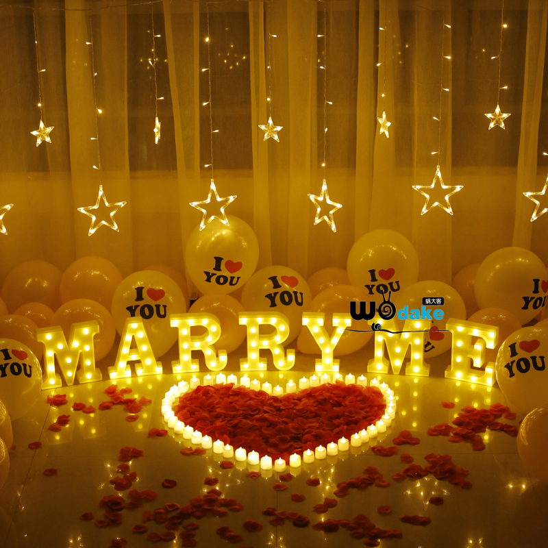 Marryme proposal letter creative goods indoor and outdoor room expression artifact decoration letter lamp marry me