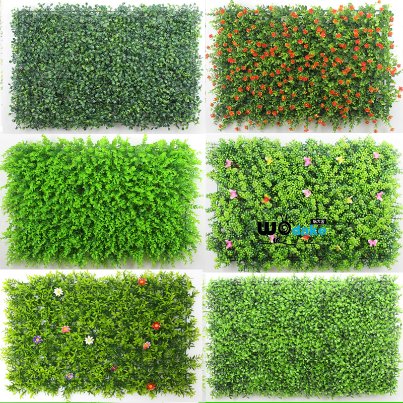 Three dimensional simulation green plant wall hanging plastic flower artificial lawn living room balcony false turf green plant wall background wall hanging