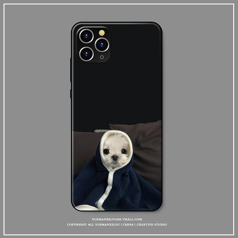 ins原创iPhone12手机壳女苹果xsmax软壳8plus全包7p硅胶xr/xs防摔保护套个性6s暖萌可爱狗狗5se创意11pro适用