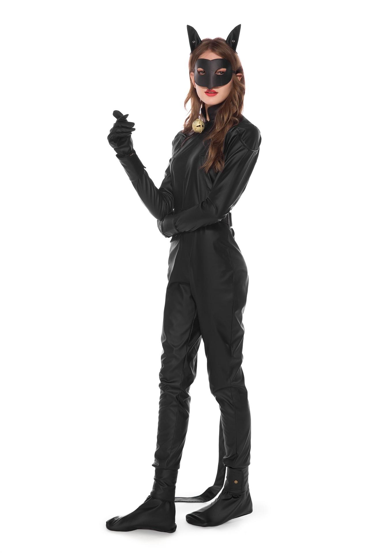 郎角色扮演cosplay猫咪装猫夜店连体装含尾巴皮款万圣节服装女