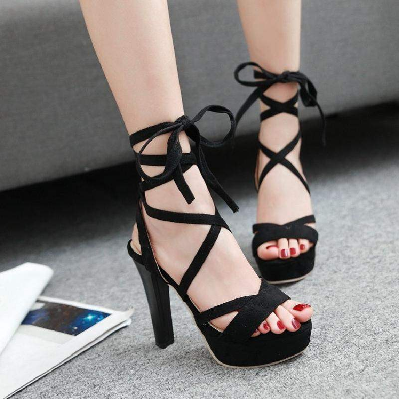 Parcel post 2017 summer 11cm thick high heel waterproof table tie ankle tie t table sandals womens shoes wine red shoes