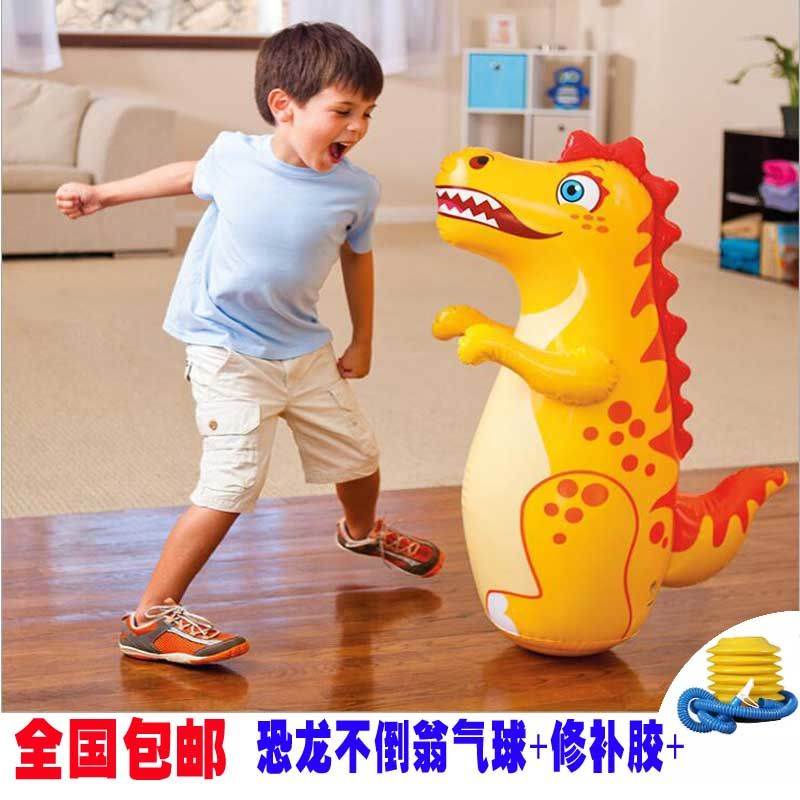 Childrens toy tumbler inflatable sandbag plus large baby early education children dinosaur less than Weng balloon