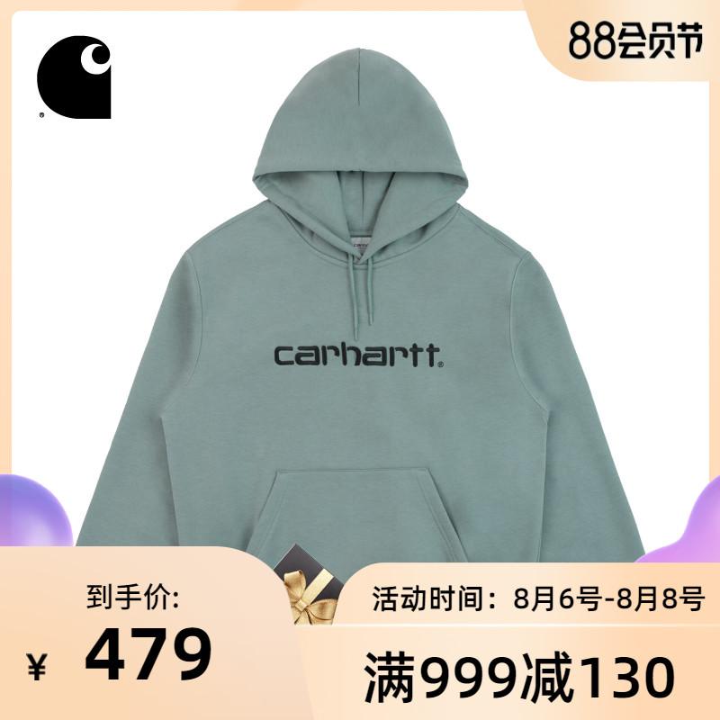 Carhartt WIP男装秋冬字母LOGO刺绣连帽加绒休闲卫衣027093D