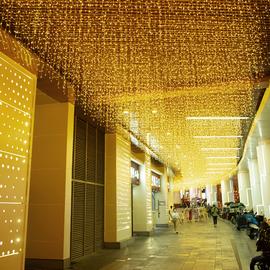 彩灯闪灯串灯满天星蓝色创意防水彩灯带游乐园步行街广告氛围亮化