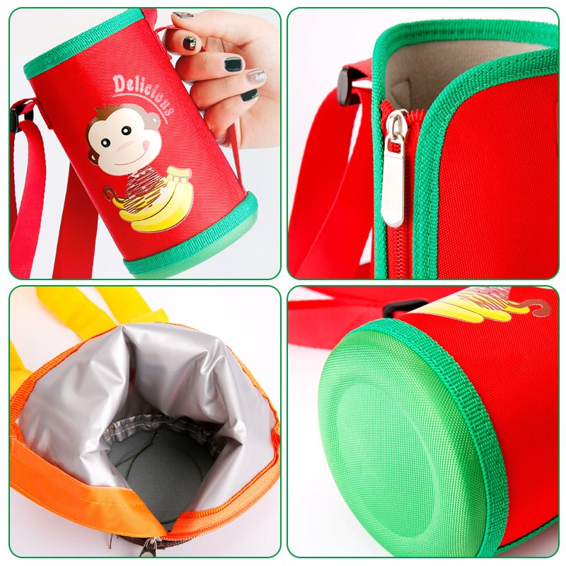 The thermos bottle cover, the heat shield cover, the water cup jacket bag, which can be carried on the body by children