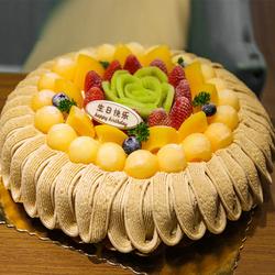 重庆市栗子蛋糕2小时送达同城配送全国栗子泥蓉板栗水果生日蛋糕