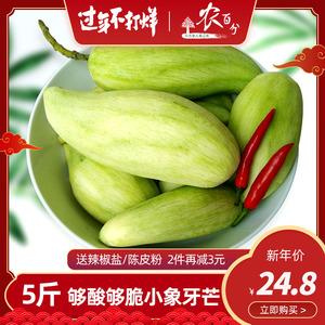 生芒果酸脆生吃芒果新鲜象牙芒青芒青皮椒盐海南水果酸嘢5斤包邮