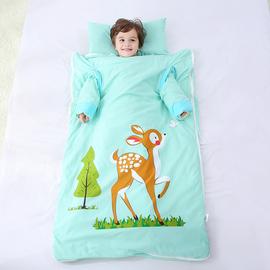 良良婴儿睡袋纯棉秋冬四季厚薄款防蹬被子冬季中大儿童宝宝防踢被图片