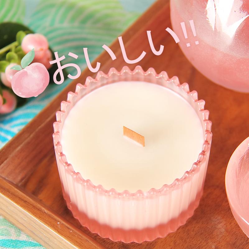 5月10日发|节气盒子白桃乌龙茶烛60g 桃子味香薰蜡烛木芯无烟