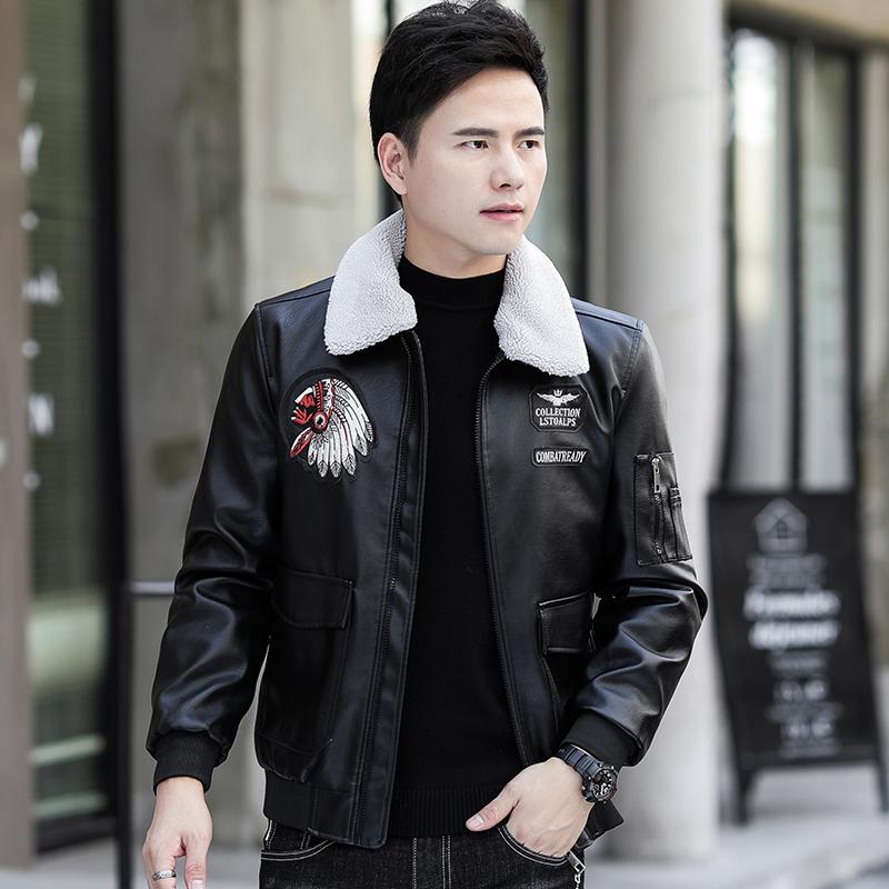 秋冬季新款韩版男士皮衣夹克