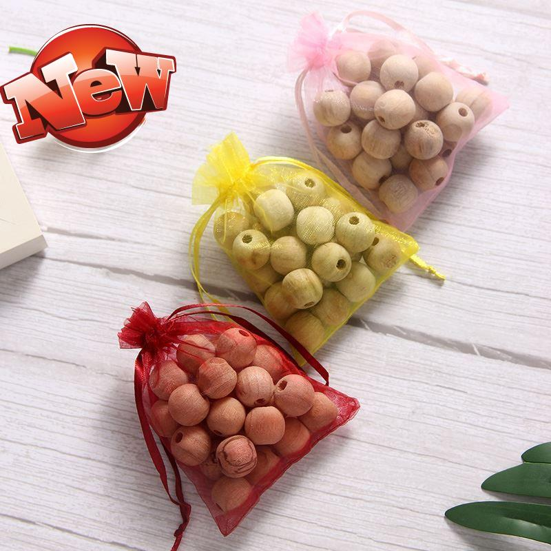 New indoor flower ball insect proof tablet 20s bag 400 grain toilet camphor wood ball fragrant wood bead bookcase room