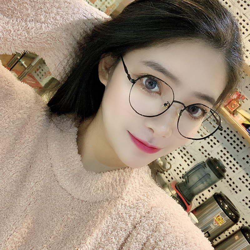 Anti blue light fatigue and anti radiation plain spectacle frame can be equipped with myopia lens, womens Korean version tide plane non power eyes