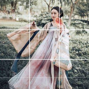古裝仙女大袖衫對襟齊胸襦裙套裝春秋漢服女長生殿廣袖傳統