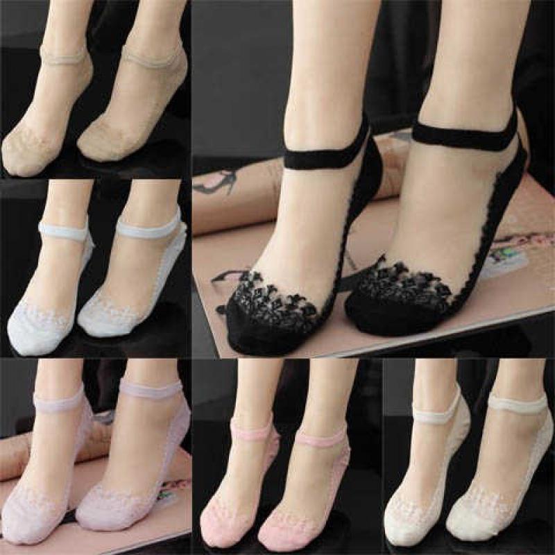 夏季冰丝船袜蕾丝超短船女超薄款隐形短袜打底袜丝袜美腿袜2020