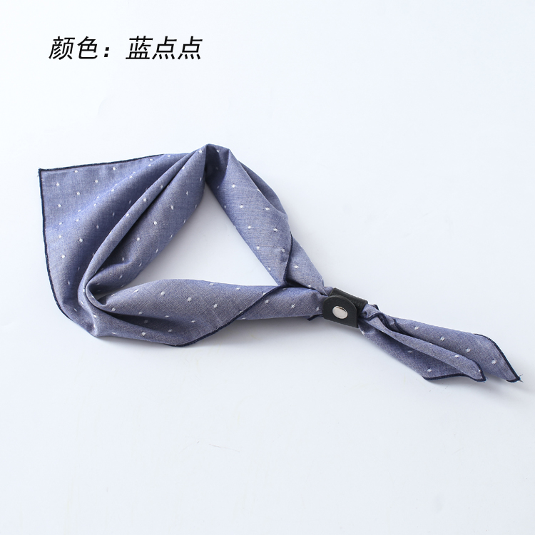Mens square neck band of mens scarf Guo Qilin the same style of mens collar cashew flower spring and autumn thin.