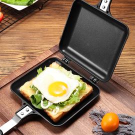 日式三明治双面不沾夹锅燃气家用便捷式多功能早餐机煎蛋吐司模具