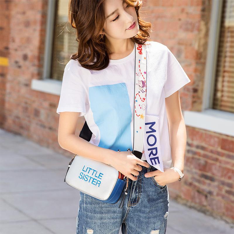宽肩带斜挎包明星同款2020韩版单肩包新款个性相机包潮流时尚女包