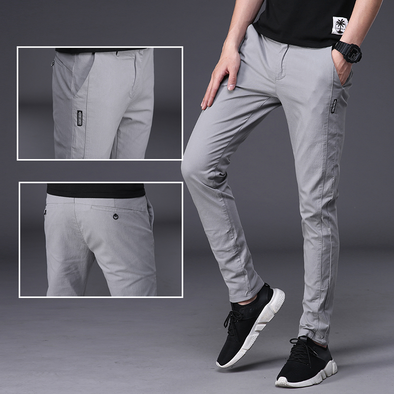 Thin in spring and summer. Cotton summer pants man. Cotton trousers mens slim mens casual pants loose.
