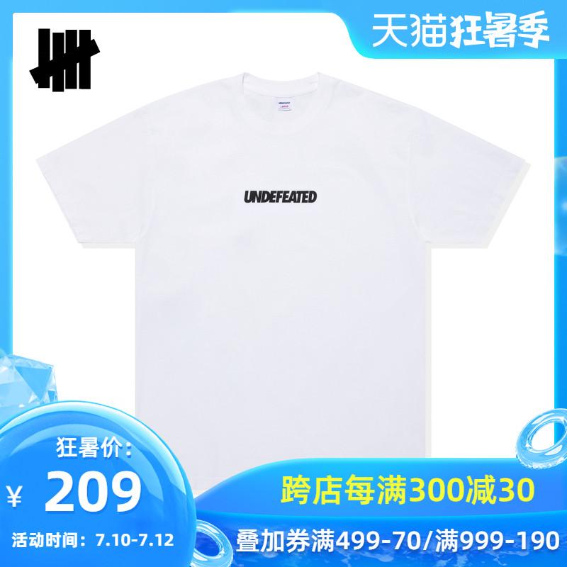UNDEFEATED男装春夏字母印花休闲短袖T恤80098MDC