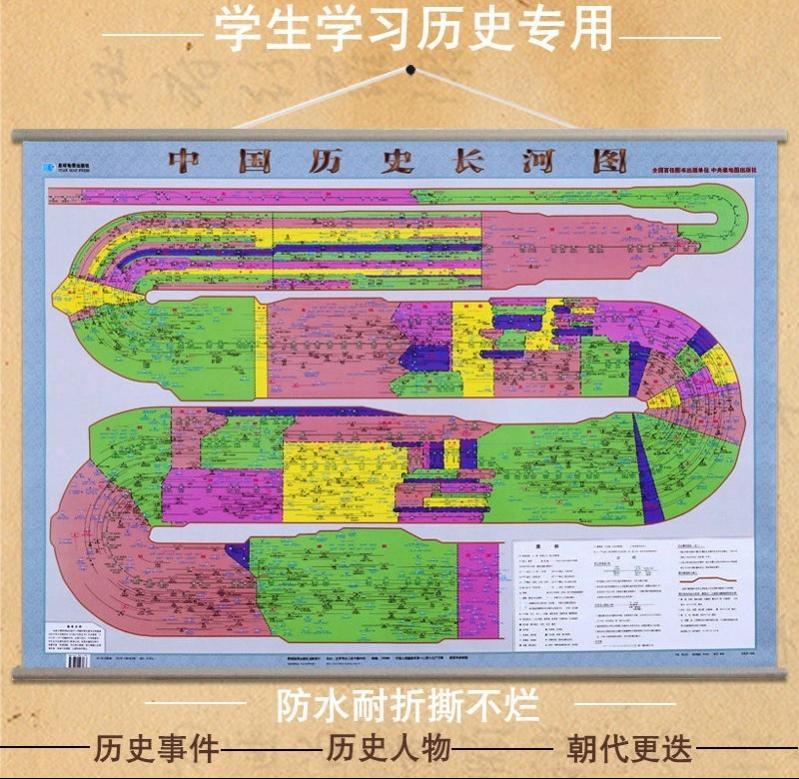 历史年代表挂图历史时间轴高中历史朝代表挂图中国历史朝代顺序表