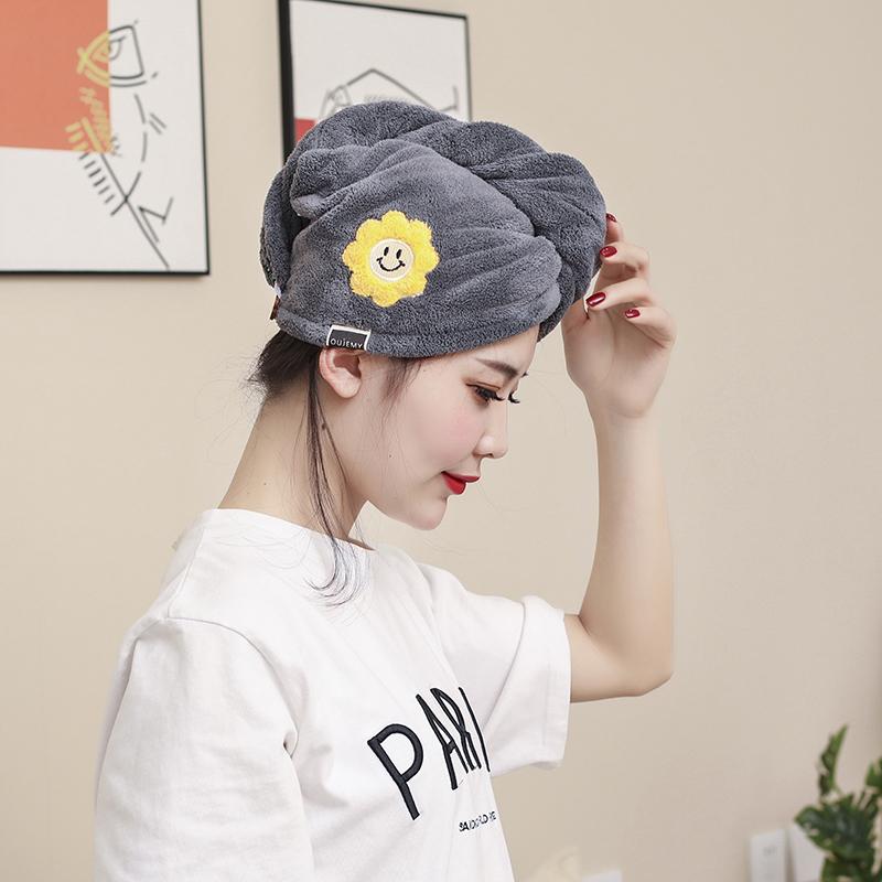 干发帽女超强吸水毛巾速干帽浴帽发巾长发擦头巾洗头发可爱包头巾