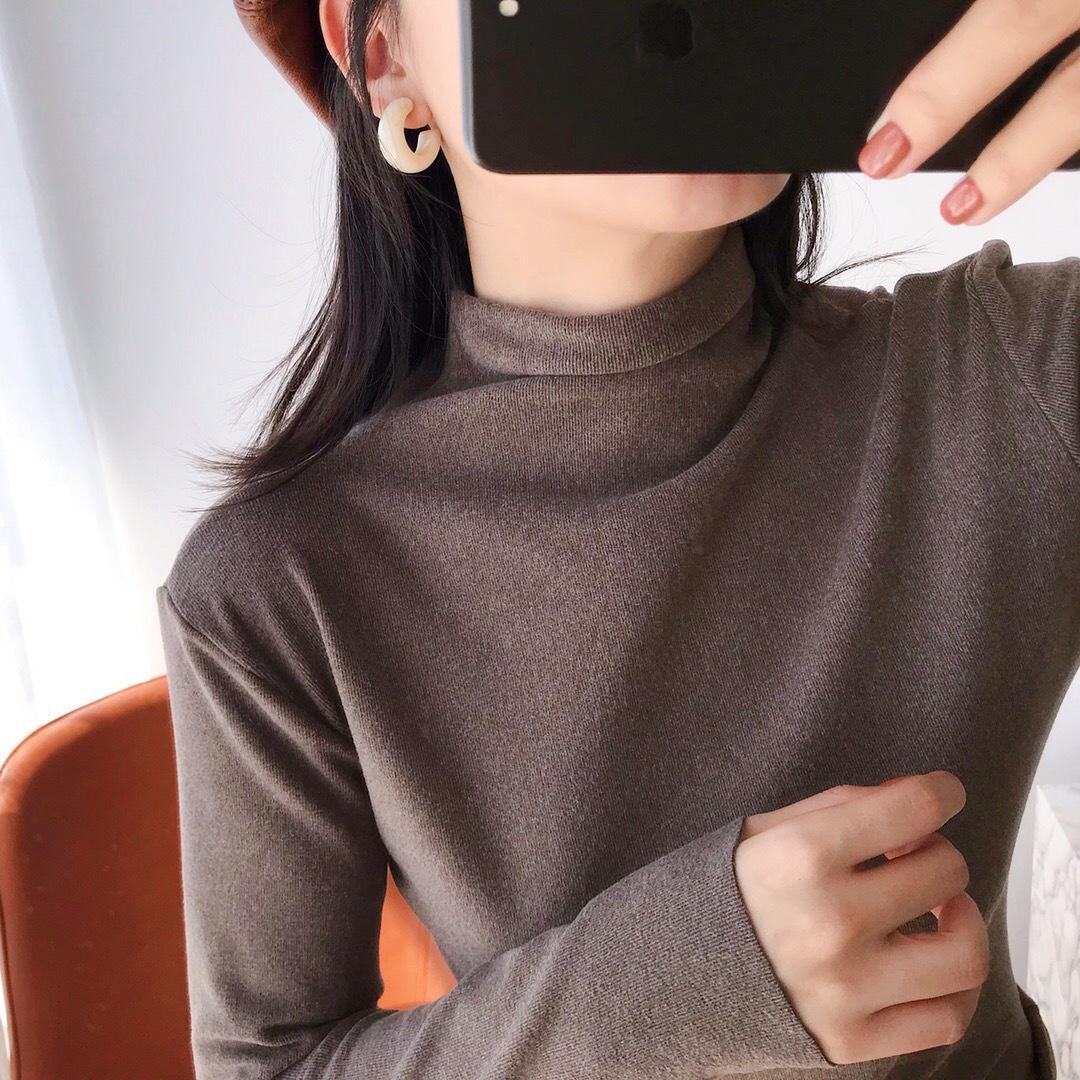 【温倩雅】韩版修身显瘦阳离子秋冬打底衫