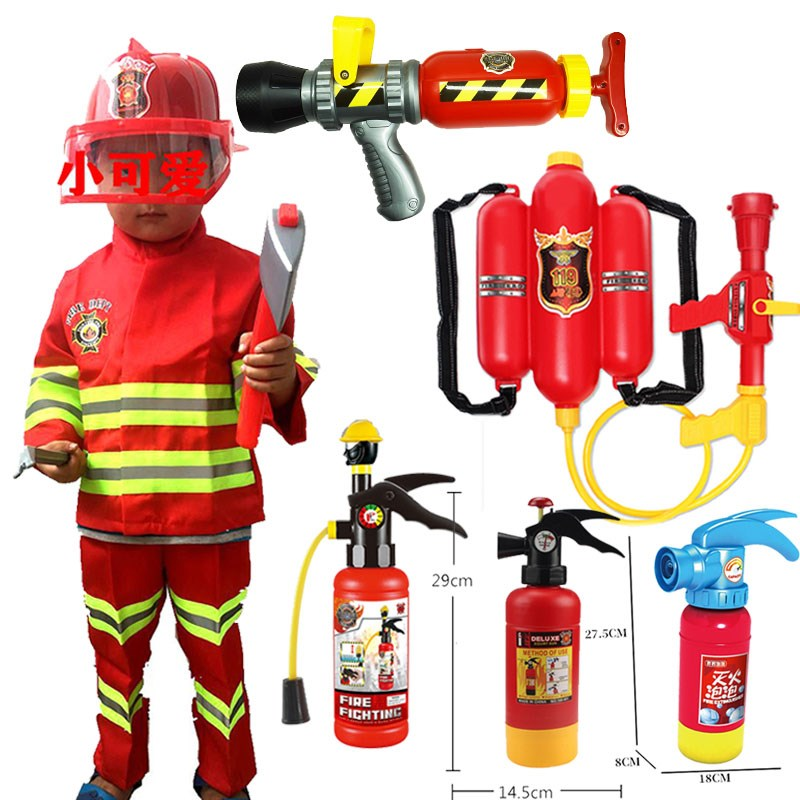 Childrens firemens clothing kindergarten professional experience role play performance clothes New Halloween performance suit
