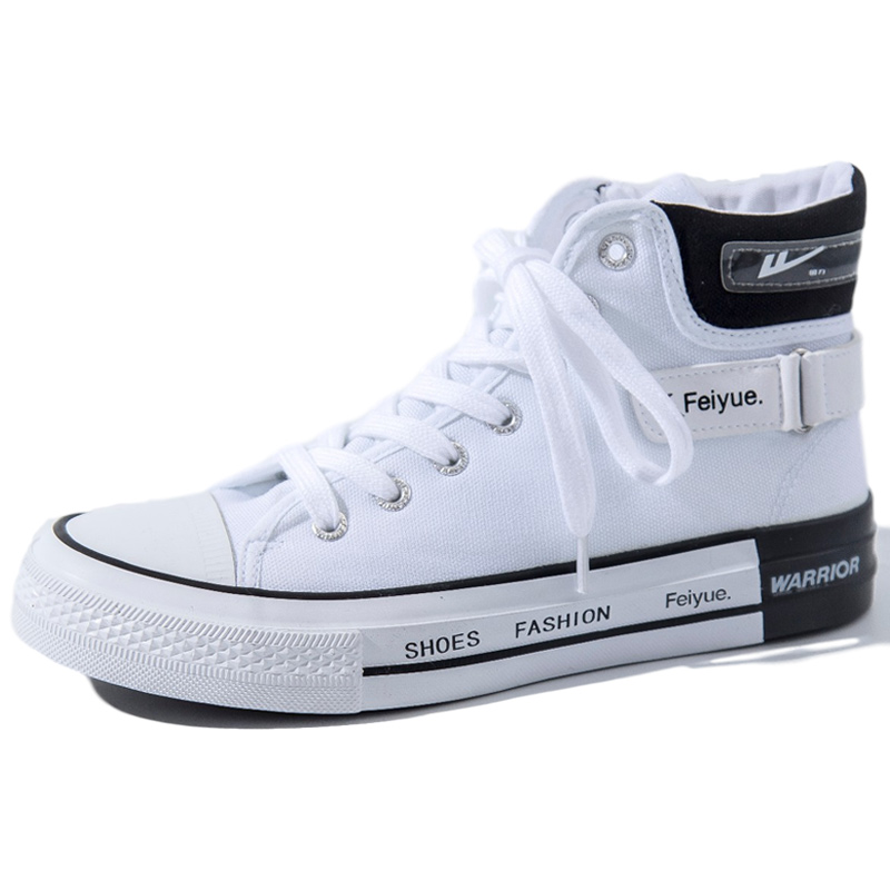 Feiyue pull back joint women's shoes spring 2021 new canvas shoes women ulzzang all-match Korean high-top shoes women