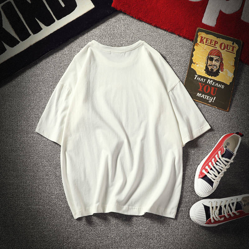 Trendy short sleeve loose gradient temperature sensitive T-shirt heat sensitive color changing clothes heart-shaped men and women love lovers play