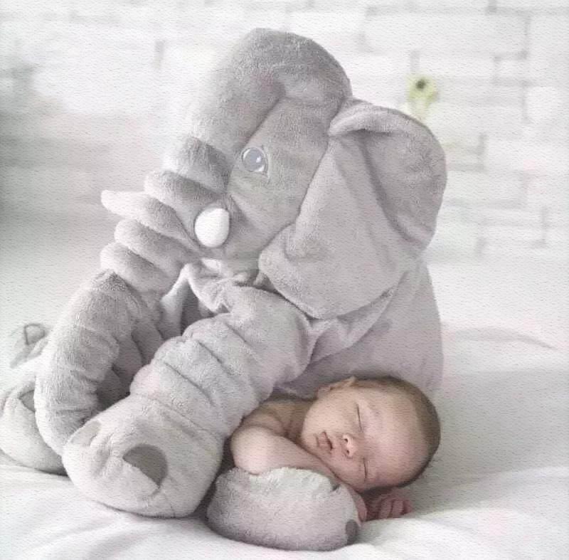 安抚大象毛具公仔婴儿抱枕头玩偶睡觉布娃娃宝宝陪睡生日礼物