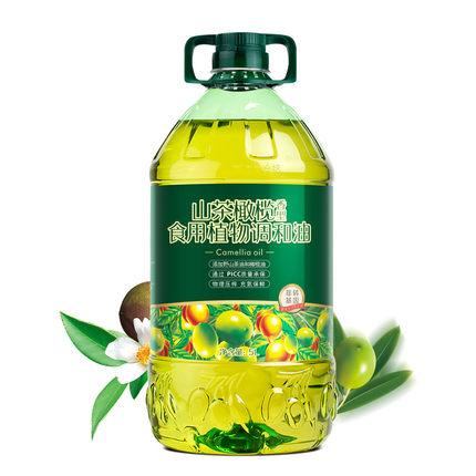 【好运花】山茶橄榄营养食用油调和油物理压榨橄榄油非转基因5L