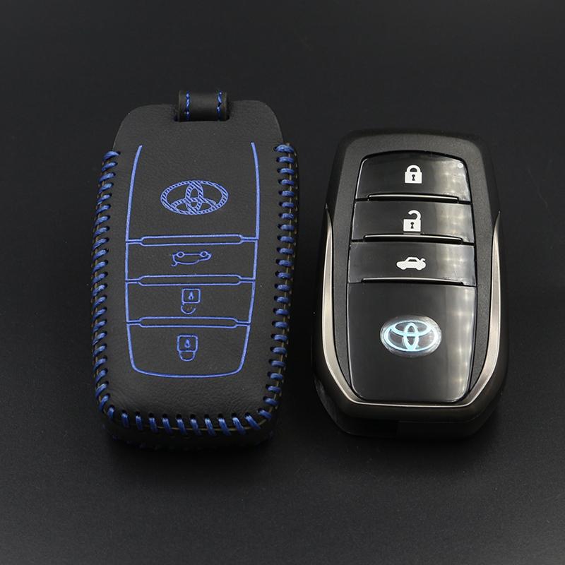 2015款新漢蘭達豐田RAV4榮放 汽車真皮鑰匙包智能款車用鑰匙套