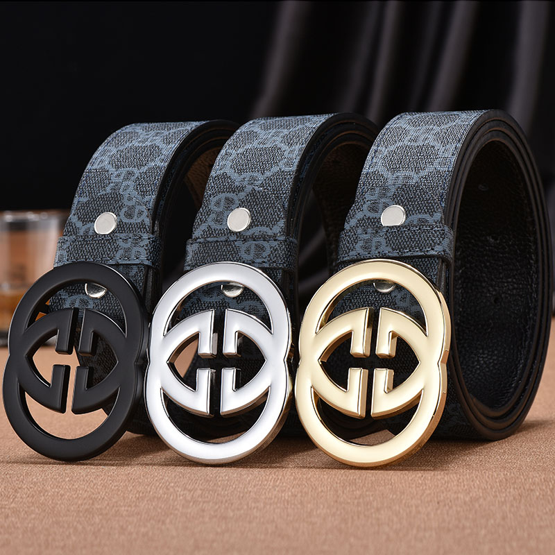 Belt mens jeans with Korean fashion personality versatile young peoples spirit net red leather belt man