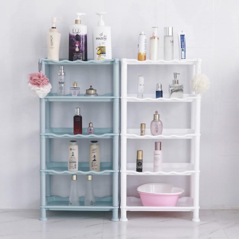 卫生间置物架浴室收纳神器落地多层塑料架家用三角架子厕所脸盆架