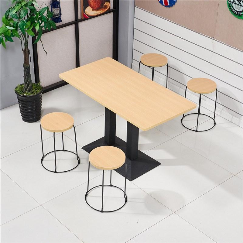 新品快餐桌椅小吃店奶茶中式西餐厅现代简约长方形经济型桌椅组合