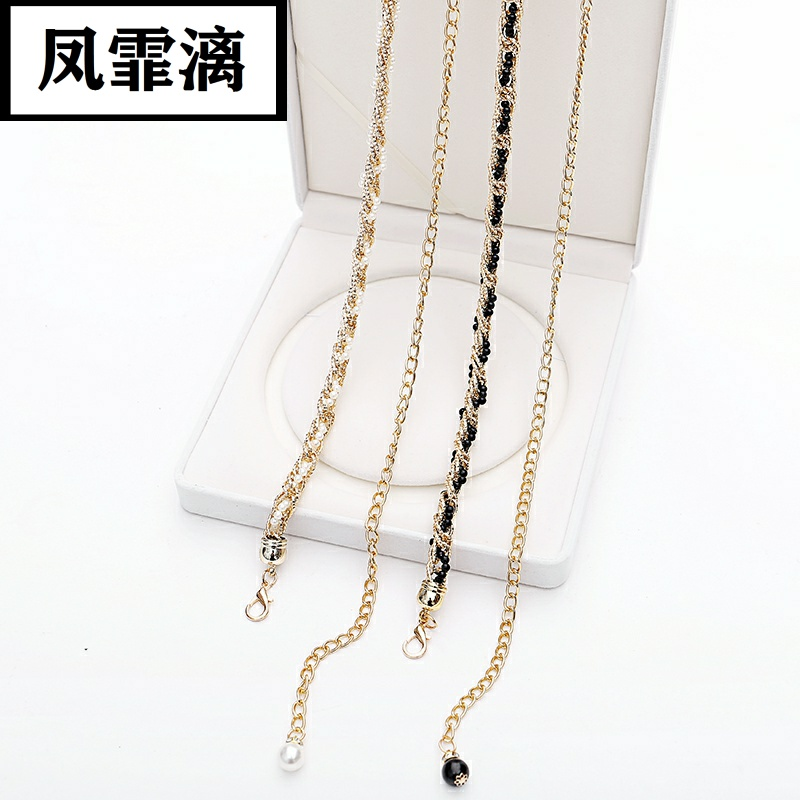 Fashion pearl waist chain womens thin belt dress simple and versatile waist rope elegant with skirt decoration belt