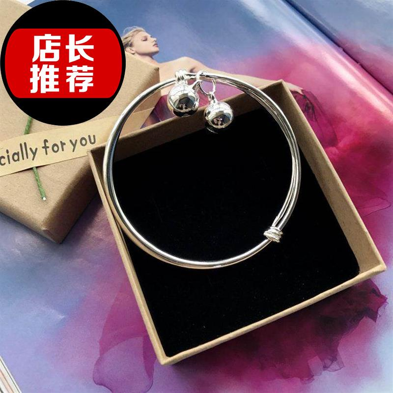 New Korean version small fresh bell anklet silver C fashion Anklet girl smooth simple versatile hot selling