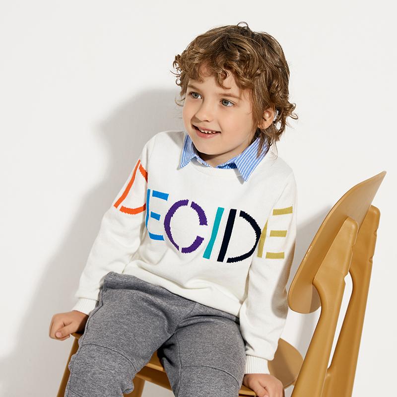 巴拉巴拉2020年新款春装男幼童假两件针织衫毛衣21031201622