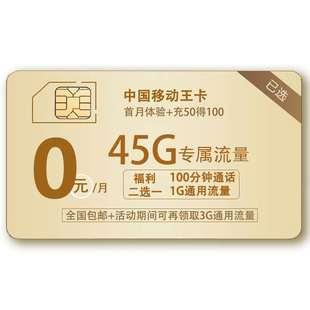 【韶关移动】大流量卡|4g手机上网卡大王卡不限速全国通用日租卡