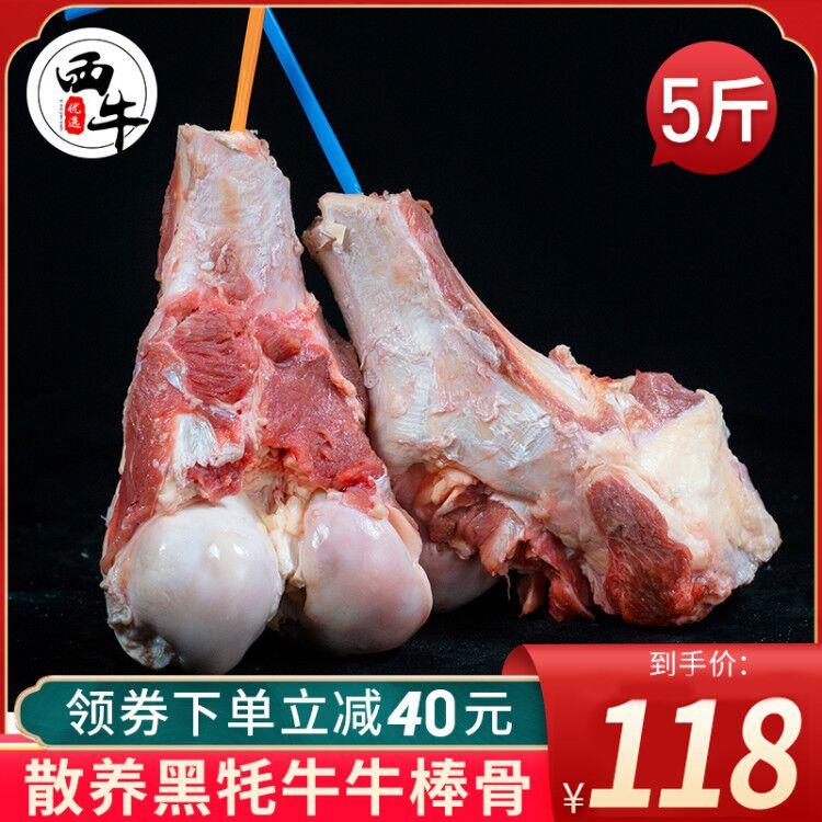 草原黑牦牛大骨头新鲜带肉5斤牛大骨棒骨脊骨冷冻牦牛肉炖汤补钙