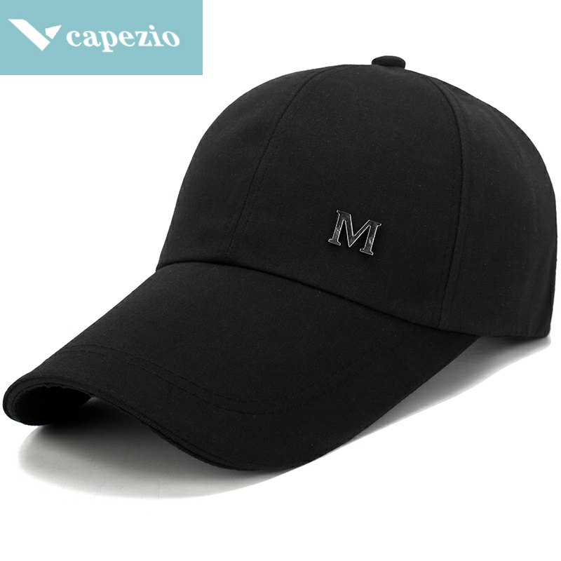 Men's long brim baseball cap spring autumn hat men's outdoor thin duck cap middle aged and elderly sports leisure cap