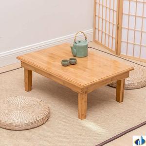 楠竹子正方形四方炕桌炕几折叠便携日式实木床上吃饭飘窗桌榻榻米