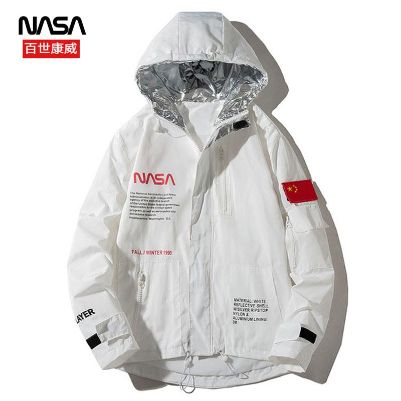 官方旗舰百世康威NASA联名薄款防晒衣冲锋衣男女外套工装夹克春季