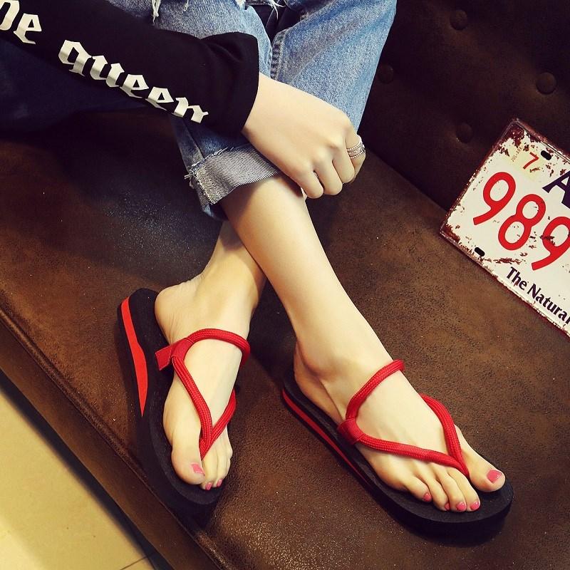 运动拖鞋女夏时尚 外穿人字黑色居家女孩两用夹脚个性女式户外
