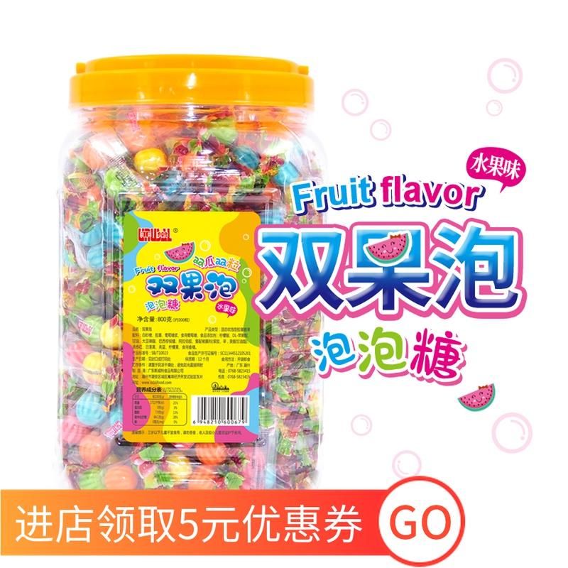 非常泡泡糖儿童口香糖六一节日小零食桶装水果口味吹泡糖果小包装