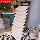 铁艺地脚线地板砖瓷砖架子落地式300x300新款护墙板展示架摆放