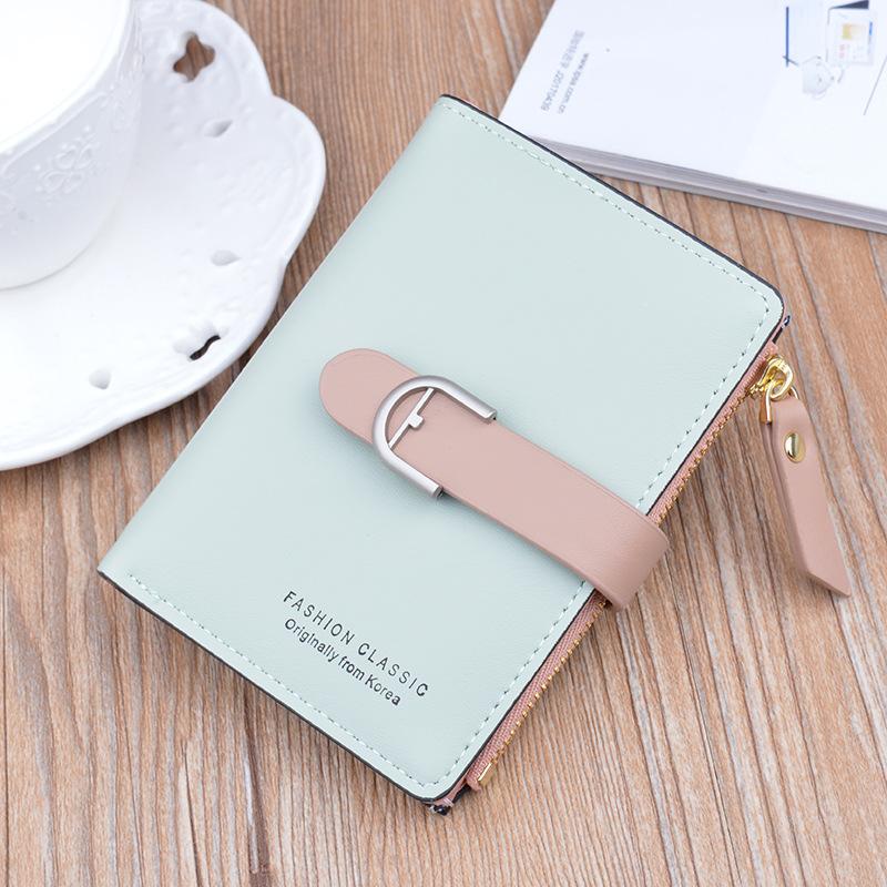 中國代購|中國批發-ibuy99|钱包|2021年新款女钱包设计感卡包薄款零钱包多层可爱日系少女心短钱夹