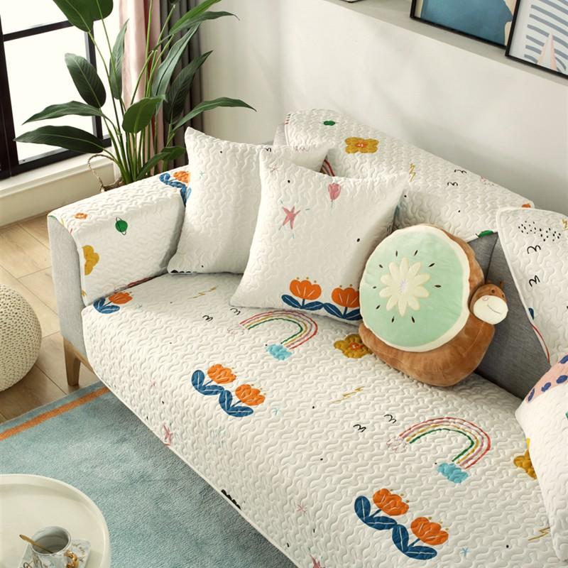 沙发垫简约现代全盖纯棉布艺四季通用防滑坐垫北欧万能沙发套罩巾