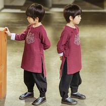 点名册汉服男童中国风儿童唐装宝宝古装小孩中式民族服装春季童装